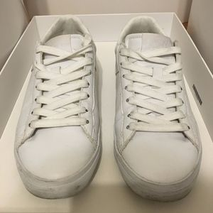 PONY White Leather Sneakers Size 7.5